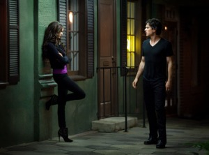 Damon and Katherine face off
