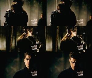 Damon Elena hug