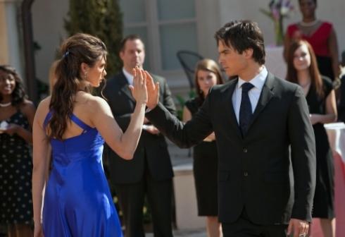 Damon Elena near touch