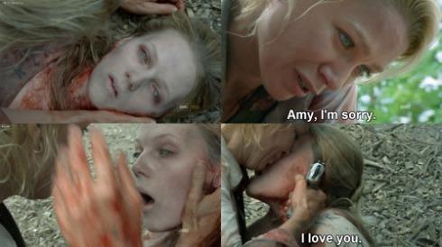 Andrea farewells Amy