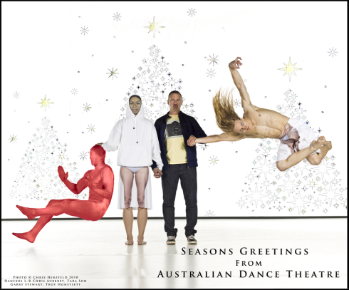 Australian dance theatre xmas card