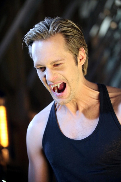 Eric Northman fangs out