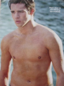 Shirtless wet steven r mcqueen