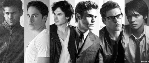 Vampire Diaries boys canvas